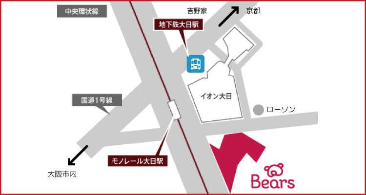 インテリアル大日ヘアーズ店へのアクセスマップ